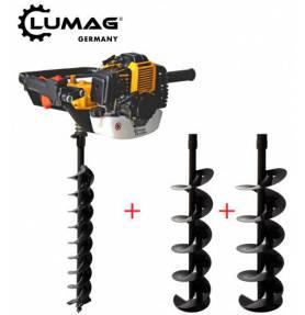 Lumag Grondboor machine EB520G , Incl boor 100,150 en 200 mm