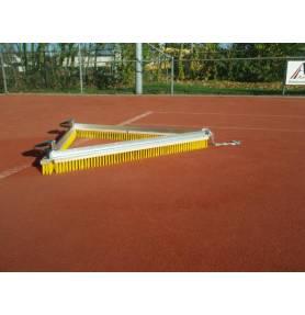 Driehoeksbezem geel voor tennis korfbal hockey