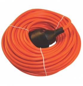 Verlengkabel 20m 2x1mm² oranje
