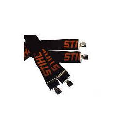 Bretellen zwart oranje (130 CM, clips)